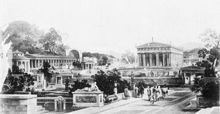 Ricostruzione dell'Altis di Olimpia di Heinrich Gartner