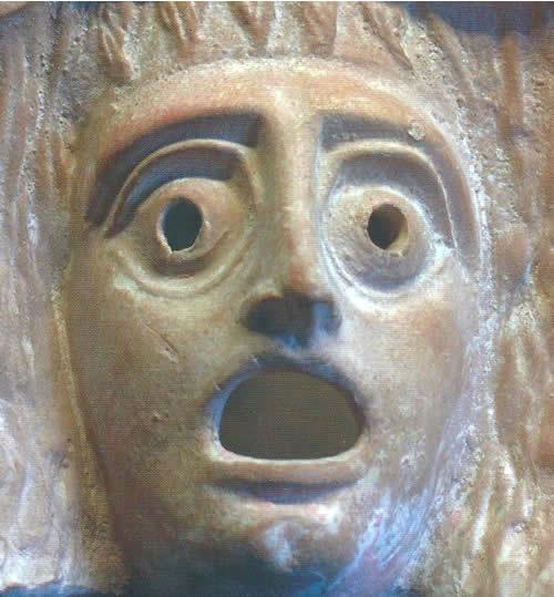 maschera teatro greco