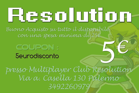 Coupon da spendere per acquitare presso resolutionshop.it
