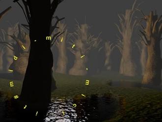 La foresta incantata, immagine da computergrafica di Daniele La Grassa