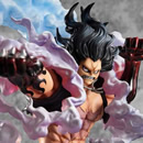 MEGAHOUSE - One Piece Excellent Model P.O.P PVC Statue 1/8 SA-Maximum Monkey D. Luffy Gear 4 Snake Man 26 cm