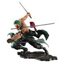 MEGAHOUSE -  One Piece Portrait Of Pirates SA-MAXIMUM PVC Statue Roronoa Zoro San Zen Se Kai !!! Ver. 21 cm